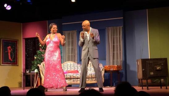 Tonya Pinkins and Roscoe Orman in New Federal Theatre's revival of Ed Bullins' The Fabulous Miss Marie at Castillo Theatre. Photo by Lia Chang