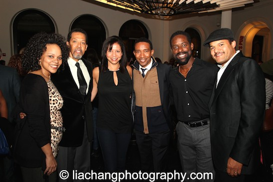Tonye Patano, Peter Jay Fernandez, Gloria Reuben, Charles Randolph Wright, Sterling K. Brown and Brandon J. Dirden. Photo by Lia Chang