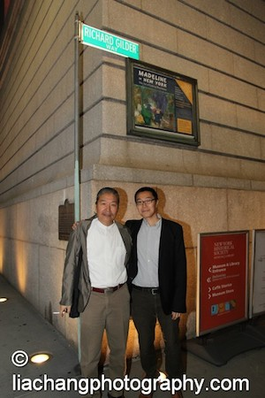 Yang Chihung and his son Daniel at the New-York Historical Society in New York on October 2, 2014. Photo by Lia Chang