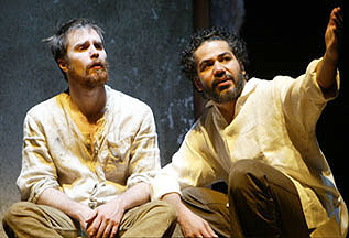 Sam Rockwell and John Ortiz in The Last Days of Judas Iscariot (Photo © Carol Rosegg)