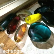Blown Glass Stones by Arlan Huang. Photo by Lia Chang