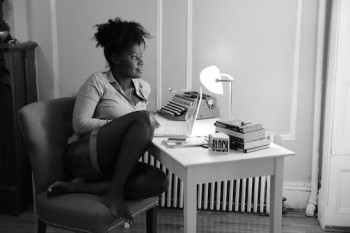 Camille Darby in her Brooklyn apartment. Photo by Lia Chang