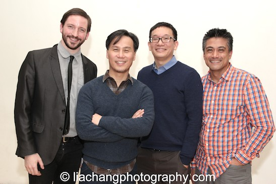 Ghost Stories Musical Director Andrew Wheeler, Director BD Wong, Curator Robert Lee and Leviathan Lab Executive Director Ariel Estrada. Photo by Lia Chang