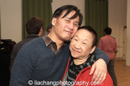 M Butterfly reunion- BD Wong and Lori Tan Chinn appeared together in the Broadway production. Photo by Lia Chang