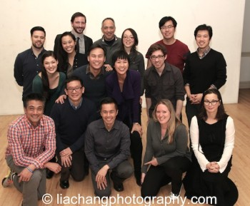 Top Row: Jeremy Smith, Andrew Wheeler, Thom Sesma, Sam Chanse, Yan Li, Jeff Tang; Second Row: Manna Nichols, Brooke Ishibashi, BD Wong, Cindy Cheung, Bob Kelly; Bottom Row: Ariel Estrada, Robert Lee, Steven Eng, Kelly Stark, Katie Baldwin Eng. Photo by Lia Chang