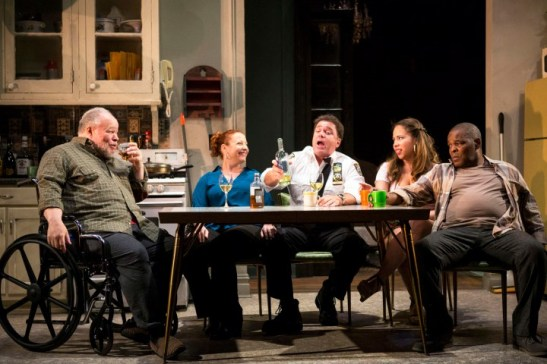 "Stephen McKinley Henderson, Elizabeth Canavan, Michael Rispoli, Rosal Colon and Ray Anthony Thomas in a scene from ""Between Riverside and Crazy."" Photo: Kevin Thomas Garcia"
