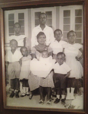 Camille Darby's grandmother surrounded by her children.