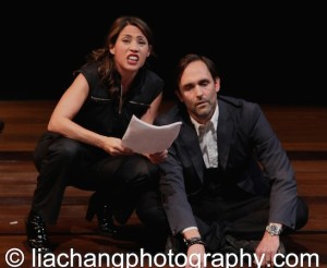 Actors Elizabeth Rodriguez and Trevor Long perform on stage at the 2014 Steinberg Playwright Awards hosted by the Harold and Mimi Steinberg Charitable Trust on November 17, 2014 in New York City. Photo by Lia Chang