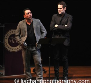 Actors Felix Solis (L) and Yul Vázquez perform on stage at the 2014 Steinberg Playwright Awards hosted by the Harold and Mimi Steinberg Charitable Trust on November 17, 2014 in New York City. Photo by Lia Chang