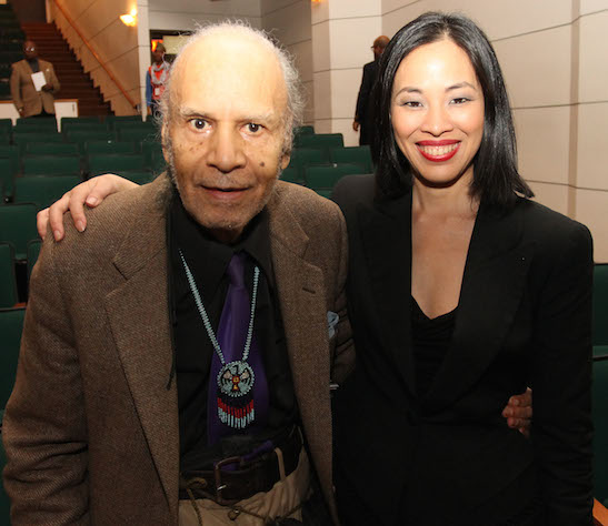Garland Lee Thompson, Sr. and Lia Chang at the Schomburg in New York on October 18, 2012. Photo by Will Chang