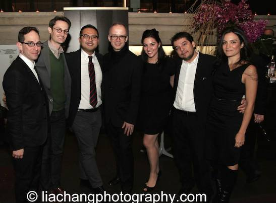 Garth Kravits, Michael Robertson, Chris Burney, Victor Malana Maog, Nikki Chalas, Matthew Paul Olmos, Marisol Miranda attend the 2014 Steinberg Playwright Awards hosted by the Harold and Mimi Steinberg Charitable Trust on November 17, 2014 in New York City. Photo by Lia Chang