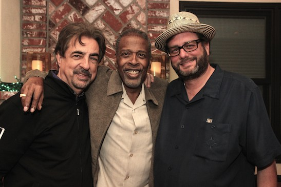 The Criminal Minds Team: Joe Mantegna, Meshach Taylor and Danny Ramm at Taylor's 67th birthday party in Toluca Lake, CA on April 12, 2014. Danny Ramm co-wrote the first episode of Criminal Minds that Taylor appeared in on November, 2012. Photo by Lia Chang