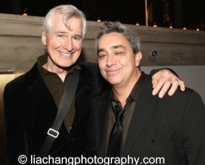 Playwrights John Patrick Shanley and Stephen Adly Guirgis attend the 2014 Steinberg Playwright Awards hosted by the Harold and Mimi Steinberg Charitable Trust on November 17, 2014 in New York City. Photo by Lia Chang