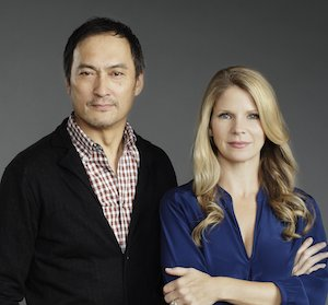 Ken Watanabe and Kelli O'Hara. Photo by Paul Kolnik.