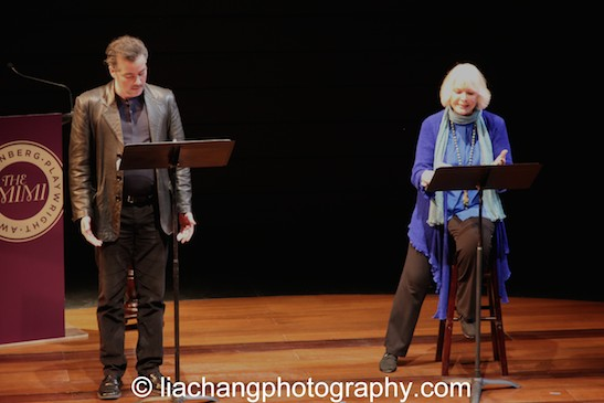 Actors Kevin Corrigan (L) and Ellen Burstyn perform on stage at the 2014 Steinberg Playwright Awards hosted by the Harold and Mimi Steinberg Charitable Trust on November 17, 2014 in New York City. Photo by Lia Chang