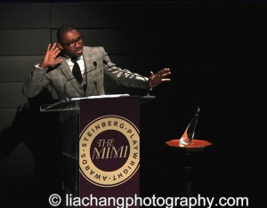 Artistic Director, Kwame Kwei-Armah speaks on stage at the 2014 Steinberg Playwright Awards hosted by the Harold and Mimi Steinberg Charitable Trust on November 17, 2014 in New York City. Photo by Lia Chang