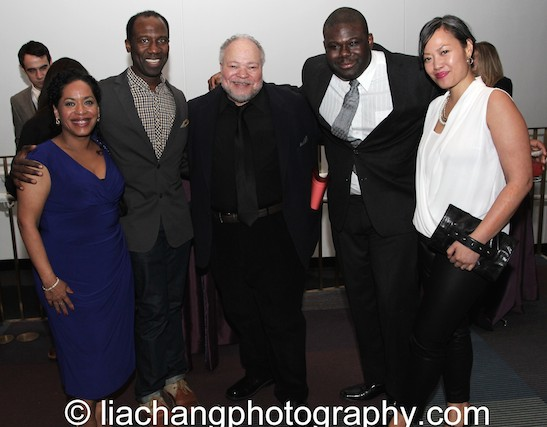 Liza Colón-Zayas, Russell G. Jones, Stephen McKinley Henderson, Neil Tyrone Pritchard and Elz Cuya Jones attend the 2014 Steinberg Playwright Awards hosted by the Harold and Mimi Steinberg Charitable Trust on November 17, 2014 in New York City. Photo by Lia Chang