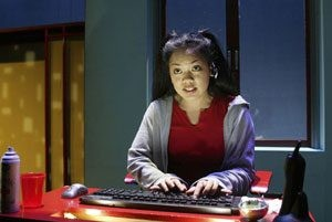 Melody Butiu in The Intelligent Design of Jenny Chow at South Coast Rep. (2003) Photo by Ken Howard.