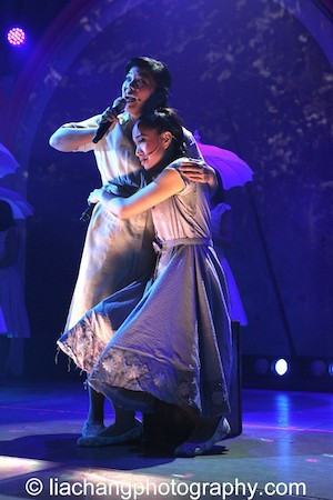 Melody Butiu as Estrella, Jaygee Macapugay as Imelda. Photo by Lia Chang