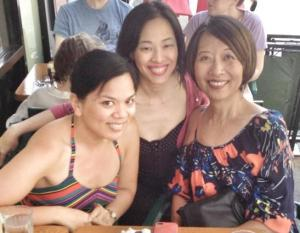 Melody Butiu, Lia Chang and Jeanne Sakata in New York on June 10, 2013.