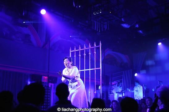 Melody Butiu as Estrella in HERE LIES LOVE. Photo by Lia Chang