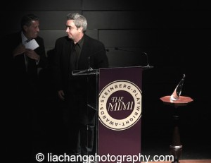 Michael A. Steinberg and playwright Stephen Adly Guirgis and speak on stage at the 2014 Steinberg Playwright Awards hosted by the Harold and Mimi Steinberg Charitable Trust on November 17, 2014 in New York City. Photo by Lia Chang