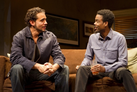 Bobby Cannavale (Jackie) and Chris Rock (Ralph D) in The Motherf**ker with the Hat. Photo by Joan Marcus