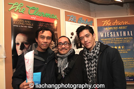 Ron Domingo, Jojo Gonzalez and Moses Villarama. Photo by Lia Chang