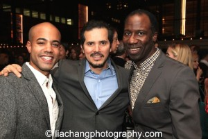 (L-R) Sean Carvajal, John Leguizamo and Russell G. Jones attend the 2014 Steinberg Playwright Awards hosted by the Harold and Mimi Steinberg Charitable Trust on November 17, 2014 in New York City. Photo by Lia Chang