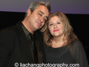 (L-R) Playwright Stephen Adly Guirgis and his sister Marie Therese Guirgis attend the 2014 Steinberg Playwright Awards hosted by the Harold and Mimi Steinberg Charitable Trust on November 17, 2014 in New York City. Photo by Lia Chang