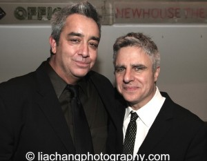 Playwright Stephen Adly Guirgis (L) and Atlantic Theater Company Artistic Director Neil Pepe attend the 2014 Steinberg Playwright Awards hosted by the Harold and Mimi Steinberg Charitable Trust on November 17, 2014 in New York City. Photo by Lia Chang