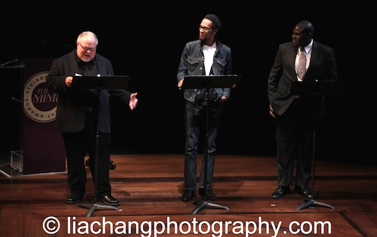 Actors Stephen McKinley Henderson, Ron C. Jones and Neil Tyrone Pritchard perform on stage at the 2014 Steinberg Playwright Awards hosted by the Harold and Mimi Steinberg Charitable Trust on November 17, 2014 in New York City. Photo by Lia Chang