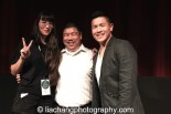 """9-Man filmmaker Ursula Liang, Paul Chin and Patrick """"2E"""" Chin at the DOC NYC Festival at SVA Theater in New York on November 15, 2014. Photo by Lia Chang"""