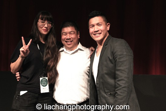 9-Man filmmaker Ursula Liang, Paul Chin and Patrick