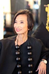 Fashion Designer Josie Natori at the Josie Natori Boutique in Nolita on June 16, 2014. Photo by Lia Chang