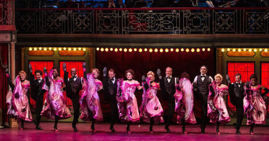 The cast of Can-Can at Paper Mill Playhouse (2014). Photo by Jerry Dalia