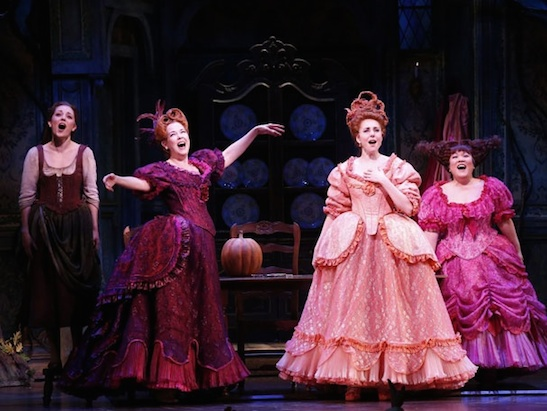 Marla Mindelle as Gabrielle and Ann Harada as Charlotte in the 2013 Broadway  premiere of Rogers and Hammerstein's Cinderella. Photo by Carol Rosegg