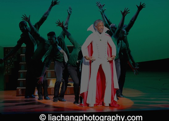 A Celebration of the 40th Anniversary of The Wiz at the BC/EFA's Gypsy of the Year featured André De Shields as the Wizard at The New Amsterdam Theatre in New York on December 9, 2014. Photo by Lia Chang