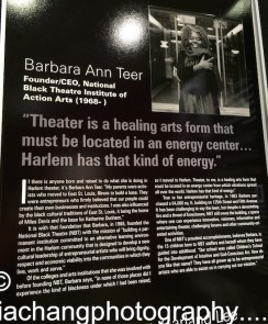 National Black Theatre, Inc. Dr. Barbara Ann Teer, Visionary Founder Sade Lythcott, CEO. Photo by Lia Chang