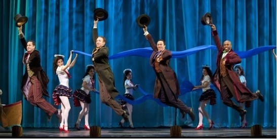 The cast of Paper Mill Playhouse's production of Curtains (2011). Photo: Bruce Bonnett