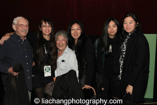 9-Man filmmaker Ursula Liang with AiYoung Choi and guests at the DOC NYC Festival at SVA Theater in New York on November 15, 2014. Photo by Lia Chang