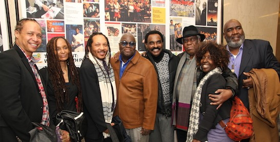 Jamal Joseph, Joyce Walker Joseph, Guest, Voza Rivers, Chuck Jackson, Woodie King Jr., Phyllis Yvonne Stickney and guest. Photo by Lia Chang