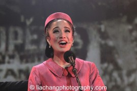 Jaygee Macapugay as Imelda Marcos in HERE LIES LOVE. Photo by Lia Chang