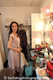Backstage at HERE LIES LOVE with Jaygee Macapugay at The Public Theater's LuEsther Hall in New York on December 31, 2014. Photo by Lia Chang