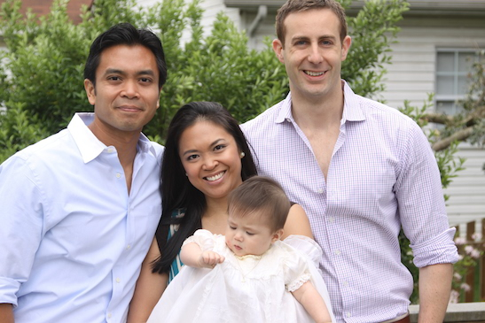 Jose Llana with his sister Patricia Llana, his partner, Erik Rose at his niece, Veronica's baptism in 2010. (Photo courtesy of Jose Llana)