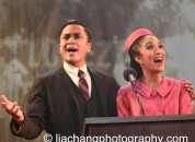 Jose Llana and Jaygee Macapugay as Ferdinand and Imelda Marcos in HERE LIES LOVE. Photo by Lia Chang