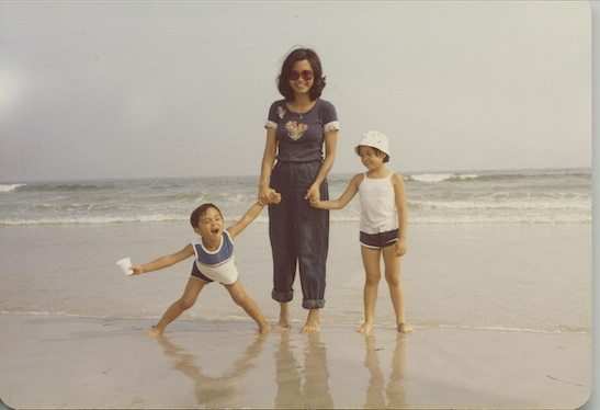 Jose, his mother, Regina, and his sister Patricia on the beach in 1981. (Photo courtesy of Jose Llana)