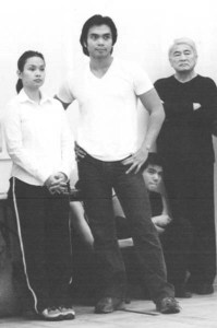 Lea Salonga, Jose Llana and Alvin Ing in rehearsal with David Henry Hwang's revisal of Rodgers and Hammerstein's Flower Drum Song at 890 Broadway Studios in New York on September 22, 2002. Photo by Lia Chang
