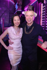 Lia Chang and David Byrne on New Year's Eve at HERE LIES LOVE. Photo by Diane Phelan