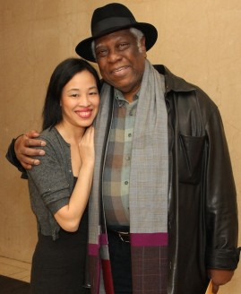 Lia Chang and Woodie King Jr. Photo by GK